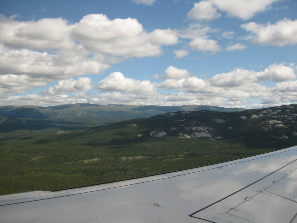 Flying in to Whitehorse