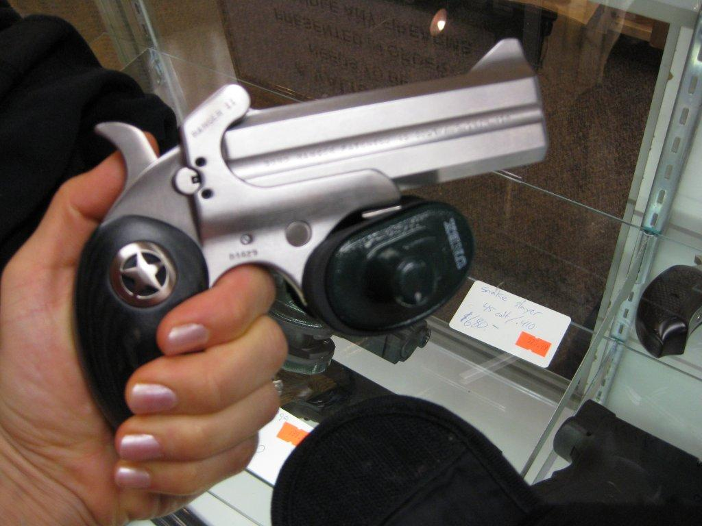In the unlikely case that I would actually purchase a handgun, I would opt for something a bit more streamlined...