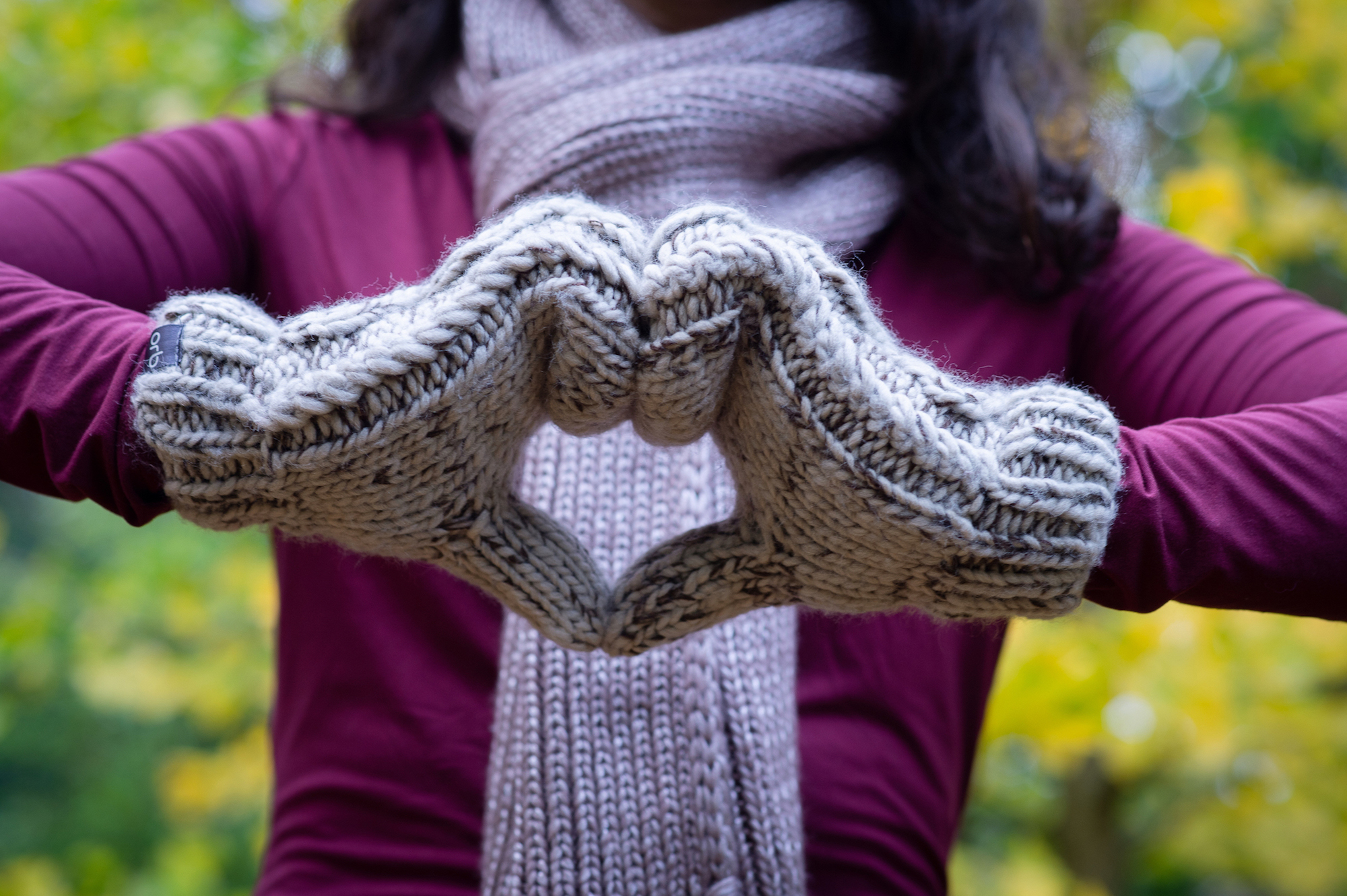 Cozy mittens scarf hygge Orb Clothing