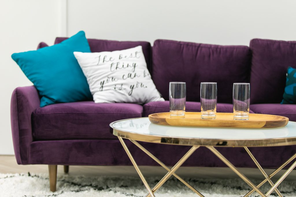 purple couch