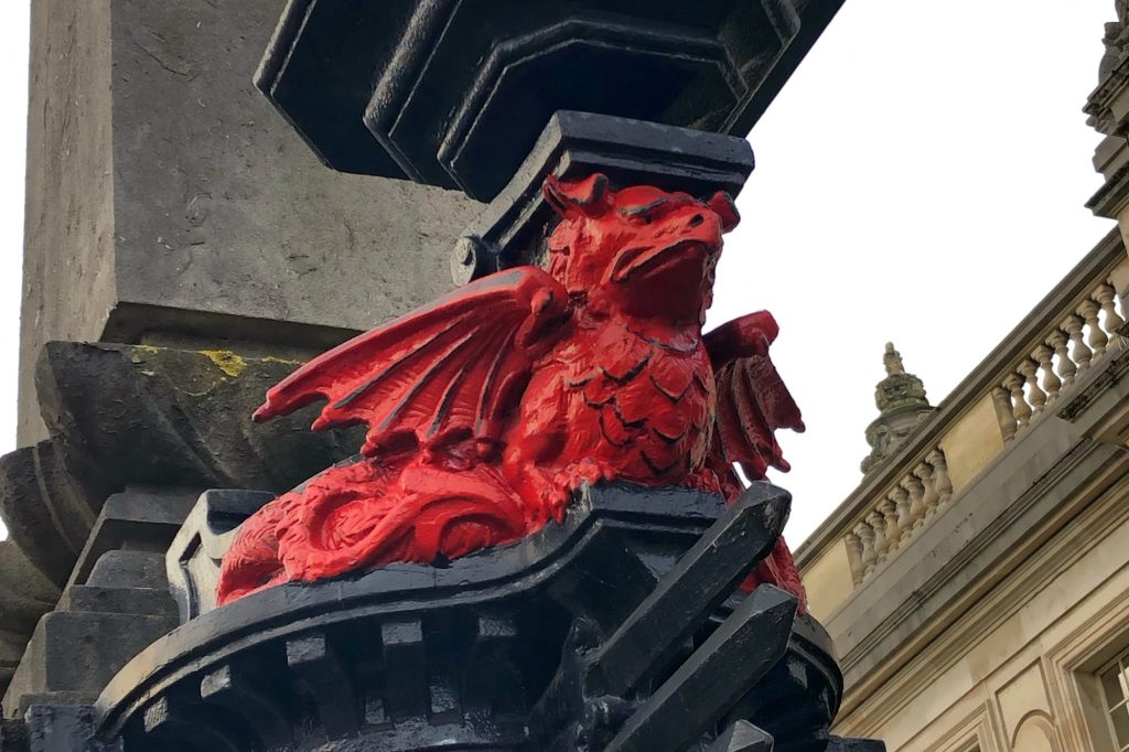 dragon statue Wales