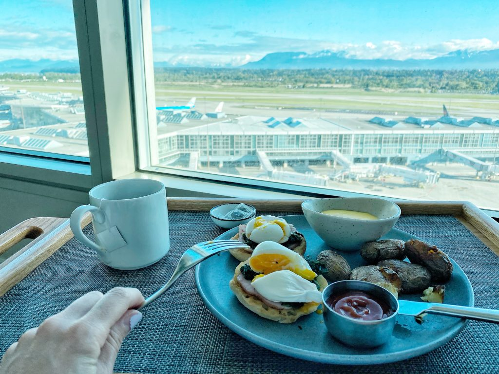 Breakfast at the Fairmont Vancouver Airport Hotel
